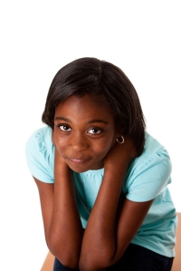 anxious teen african-american
