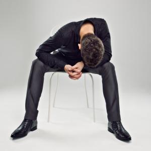upset male college student