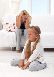 mom frustrated by depressed daughter