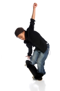 black kid skateboard