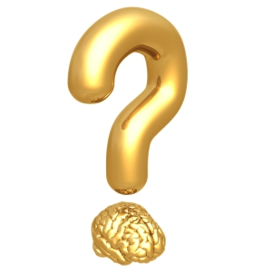 question mark over brain