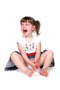 tantruming girl