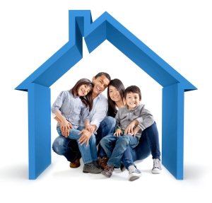 family in house clipart