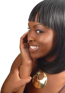 black woman smiling background