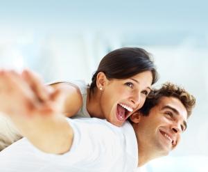 joyful couple