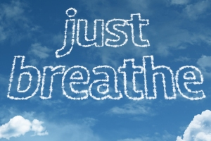 """just breathe"" in clouds"