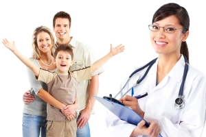 physician and a familiy