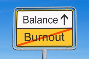 burnout:balance sign