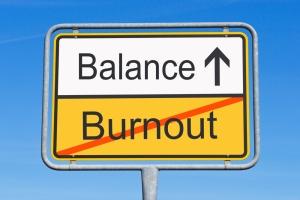 burnout:balance sign