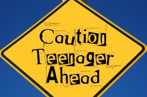 caution, teen ahead