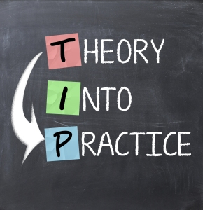 theory into practice sign