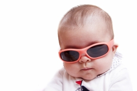 baby in shades, good for dev jeopardy