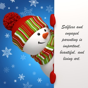 christmas snowman sign for blog